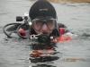 Nur pod lodem - jezioro Białe - styczeń 2009