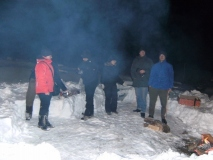 Hańcza pod lodem - luty 2010