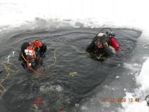 Jezioro Orłowskie pod lodem - luty 2009